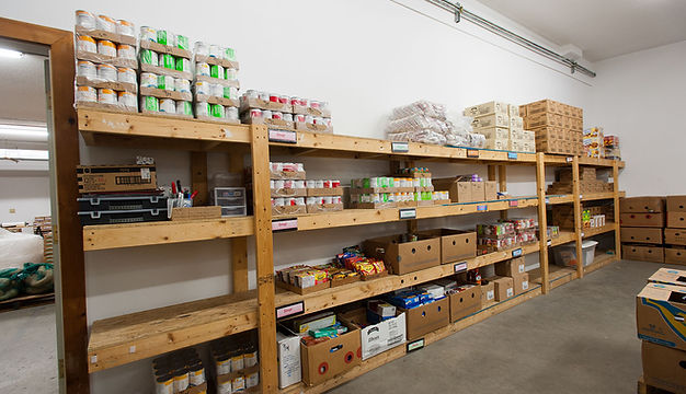 Food Shelf, Shelves, Boxes,