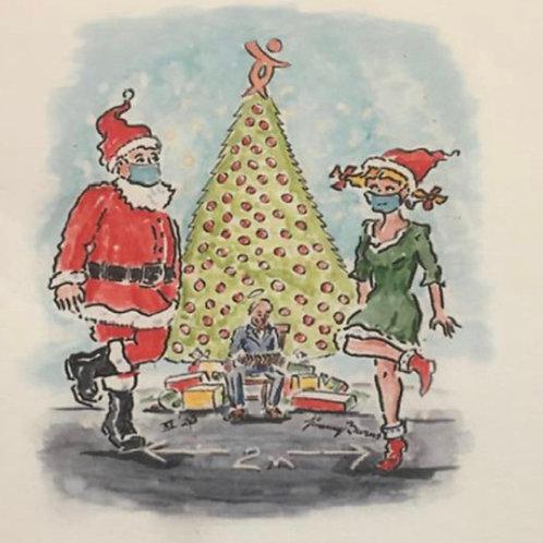 M4P Dancing Christmas Card (Pack of 6)