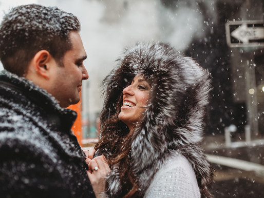 Snowy NYC || Engagement Session