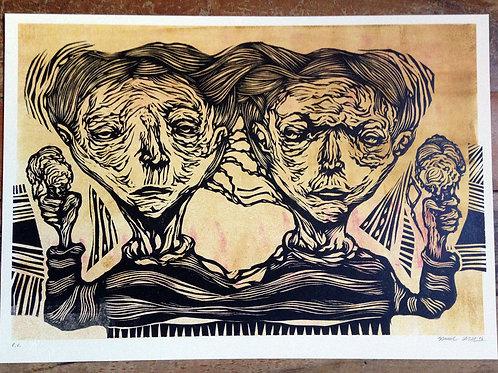 Gêmeos - Monotipia