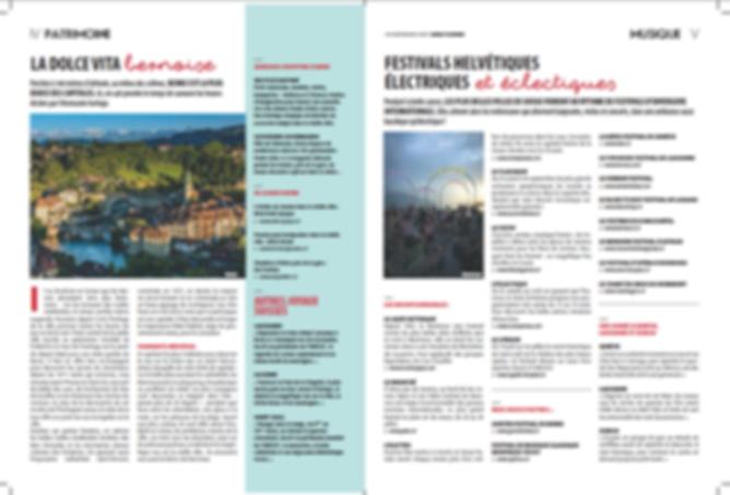 Rédaction d'un supplément publirédactionnel pour l'office du tourisme suisse