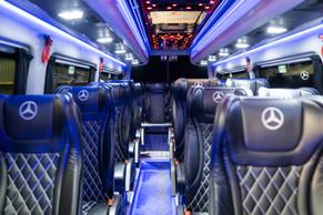 Interiør Mercedes Sprinter midibuss