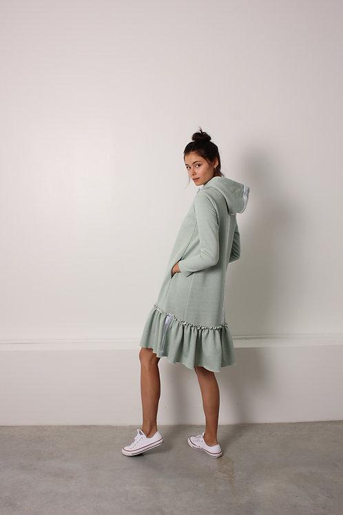 Minty Hoodie Dress