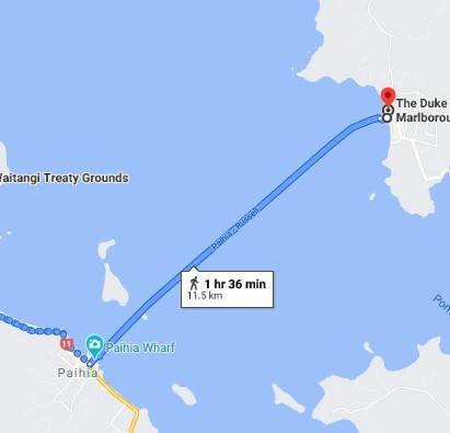 Day 02 - Walking Route to Waitangi Via Ferry