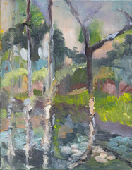 Grassy Waters IV, oil on canvas, 40x30cm