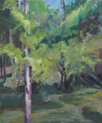 Greens, oil on canvas, 50x40cm