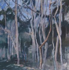 I choose April, acrylics on canvas, 90x90 cm