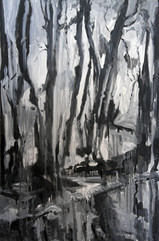If the Trees could Speak VI, acrylics on canvas,110x80cm