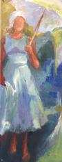 Sunny shade, oil painting, 62x24cm