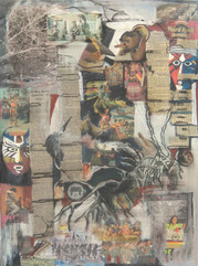28, Past and Present II, collage, 90x70, mixed media on canvas.JPG