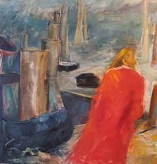Sea Breeze,  oil on canvas, 100x100cm