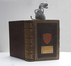 Guarding the Law book, filted animal, 24x19x30 cm