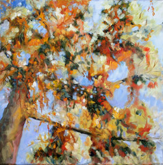 Autumn leaves, oil on canvas, 60x60cm