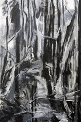 If the Trees could Speak IV, acrylics on canvas, 110x 80cm