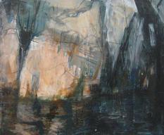 Gamle Hellesund, acrylics on canvas, 100x150cm