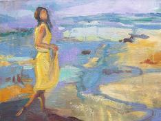 Sunny walk, oil on canvas,40x60cm