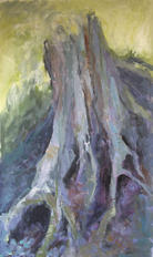 The root, oil on plate, 80x60cm