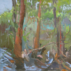 Landscape I, oil on canvas 50x50cm