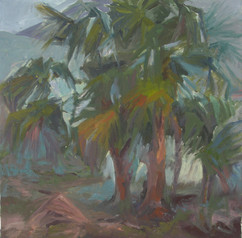 Palm trees II, oil on canvas, 50x50cm