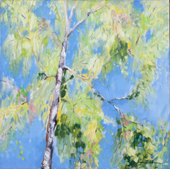 Spring Birch, oil on canvas, 60x60cm