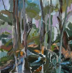 Landscape II, oil on canvas,40x40cm
