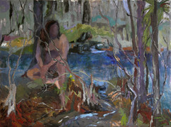 My sanctuary, oil on canvas, 80x100cm