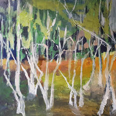 Spring, oil on canvas, 80x80cm