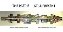 20, The Past is still Present, wall book, paper clippings and oil on paper, 30x200cm.jpg