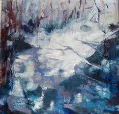 Ice, oil on canvas, 60x60cm