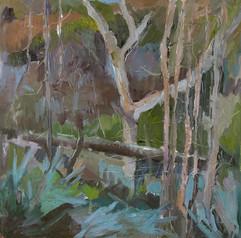 Landscape IV, oil on canvas, 40x40cm