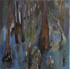 Sump Landscape, oil on canvas, 40x40cm
