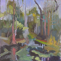 Grassy Waters II, oil on canvas, 30x30cm