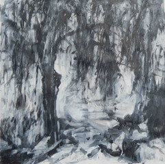 If the Trees could Speak IX, acrylics on canvas 50x50cm