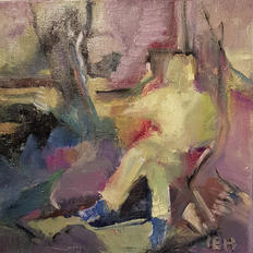 The model, oil on canvas, 30x30cm