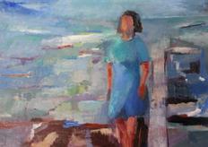 The blue hour, oil on canvas, 80x100cm