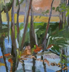 Landscape V, oil on canvas, 40x40cm