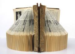 Harmony, book sculpture, two old encyclopedias 1933, 19x30x15 cm