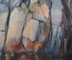 Gamle Hellesund, oil on canvas, 100x120cm