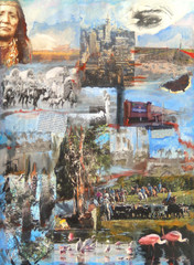 27,Past and Present I, collage, 90x70, mixed media on canvas.JPG