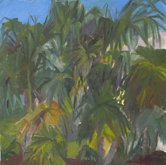 Palm trees I, oil on canvas, 50x50cm