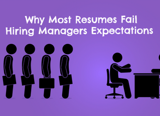 Why Most Resumes Fail Hiring Managers Expectations