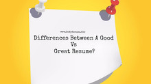 What's The Biggest Differences Between A Good Vs Great Resume?
