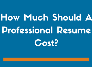 How Much Should A Professionally Written Resume Cost?