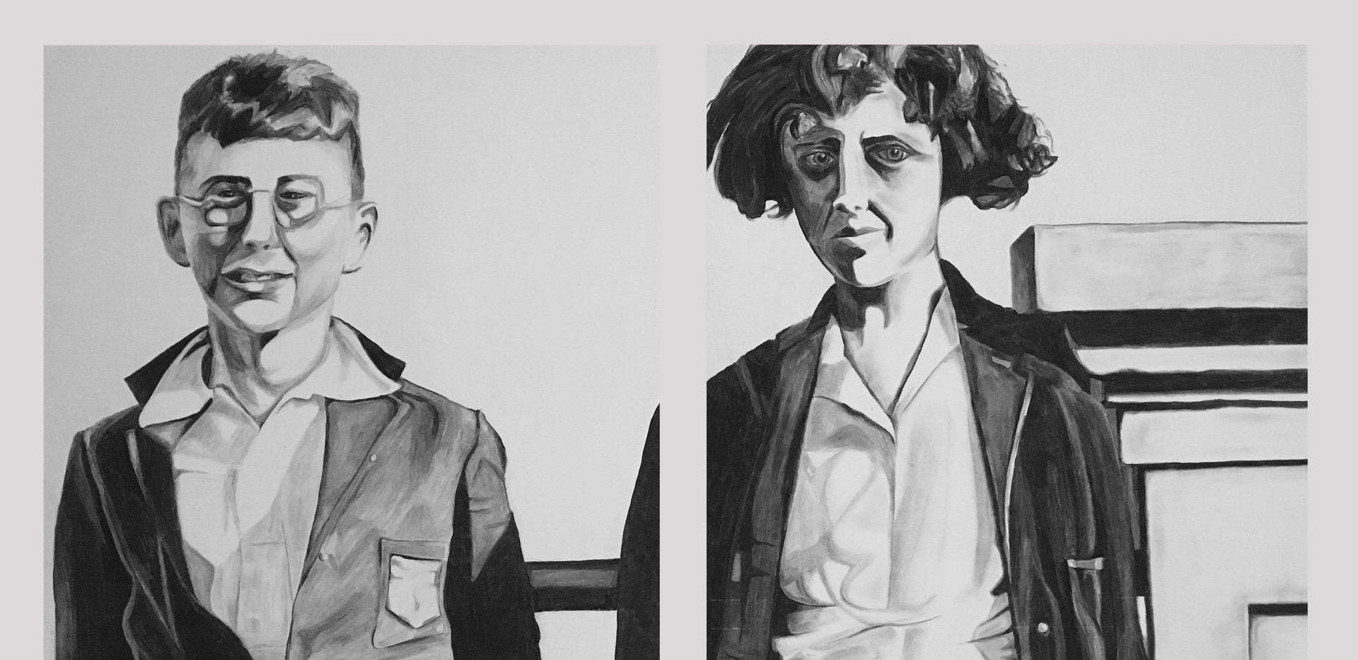 Judy and James (Diptych)