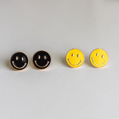 smiley stud earrings
