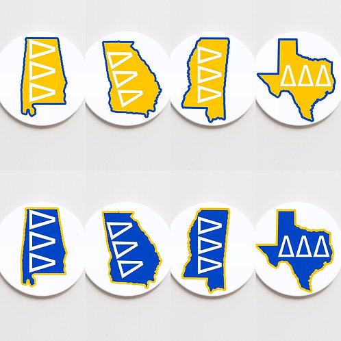 tri delta state button