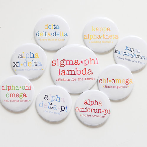 greek motto button