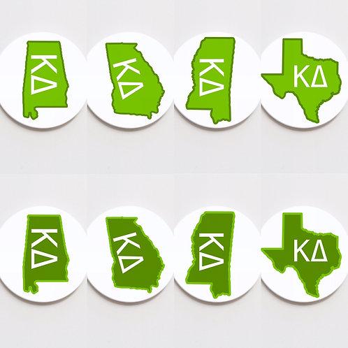 kappa delta state button