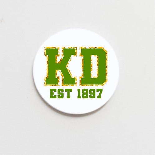 greek varsity button