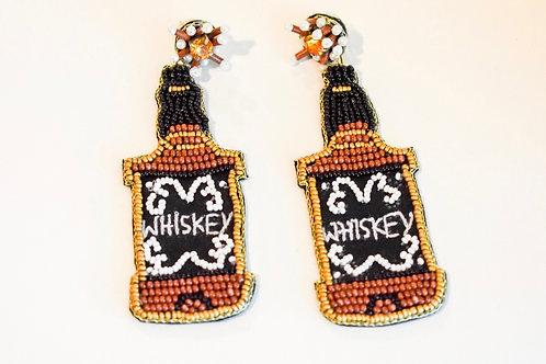 beaded bottle earrings